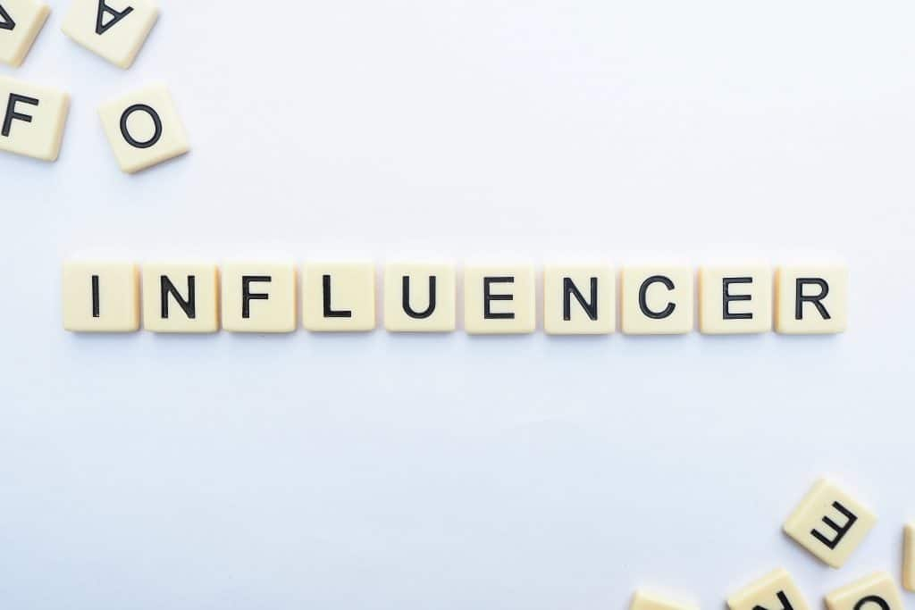 influence letters on floor